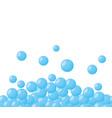 bubbles border design vector image
