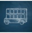 Bus double decker icon vector image