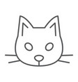 Cat thin line icon animal and zoo pet sign