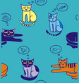 cats think about fish sausage mouse bird bowl vector image vector image