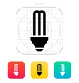 CFL light bulb icon vector image vector image
