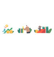characters with different income level tiny vector image vector image