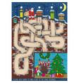 christmas maze game vector image