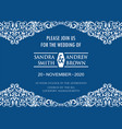 classic blue invitation card vector image vector image