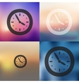 clock icon on blurred background vector image