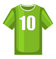 colorful cartoon soccer uniform t-shirt vector image
