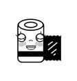 contour kawaii cute happy gauze medical tool vector image vector image