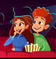 couple in movie cinema vector image