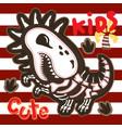 cute tyrannosaurus skeleton cartoon vector image vector image