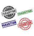 damaged textured parasitism seal stamps vector image vector image