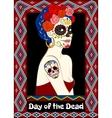 Dia de los Muertos card vector image vector image