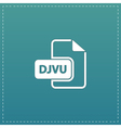 DJVU ebook file extension icon vector image vector image