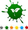 Ecology blot vector image