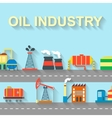 Factory oil building industry and technology vector image
