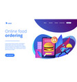 food delivery service concept landing page vector image