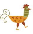 Funny hen vector image