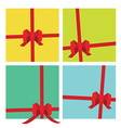 Gifts package ribbons vector image vector image