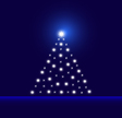 Glowing-tree-blue vector image vector image