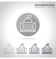 Governance outline icon vector image