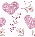 Handdrawn floral seamless pattern vector image vector image