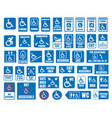 handicap signs wc and parking icons disabled vector image vector image