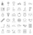 health icons set outline style vector image vector image