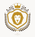 heraldic sign element heraldry emblem insignia vector image