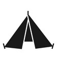 hiking tent icon simple style vector image vector image