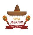 icons music maracas mexico design vector image vector image