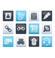 internet and website icons over color background vector image vector image