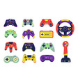 joysticks cartoon controllers for video gaming vector image