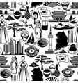 korea seamless pattern korean traditional symbols vector image vector image