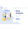 landing page template data analysis concept with vector image