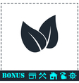 Leaves icon flat vector image vector image