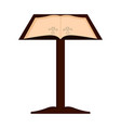 lectern with open bible vector image vector image