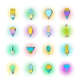 Light bulb icons set pop-art style vector image vector image