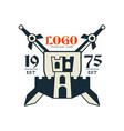 logo premium club est 1975 vintage badge or label vector image