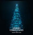 merry christmas card- christmas tree 2 vector image