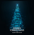 merry christmas card- christmas tree 2 vector image vector image