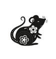 new year chinese rat zodiac 2020 vector image