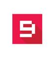 number 9 logo icon digital logo design template vector image vector image