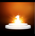 number onepodium on a transparent backgroundlit vector image