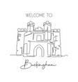 one continuous line drawing buckingham old gaol vector image