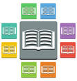 open book icons - almost flat style vector image