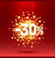 podium action with share discount percentage 30 vector image vector image
