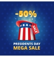 Poster USA Presidents day MEGA SALE vector image