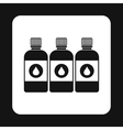 Printer ink bottles icon simple style vector image vector image
