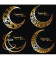 Ramadan symbols vector image