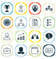 resources icons set collection of personal badge vector image vector image