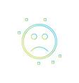 sad emoji icon vector image vector image